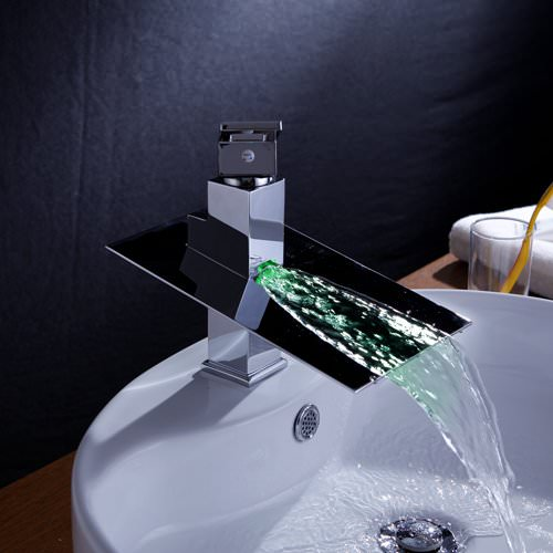 Single Handle Waterfall Color Changing Bathroom Countertop Sink Led Faucet Gadget Blog