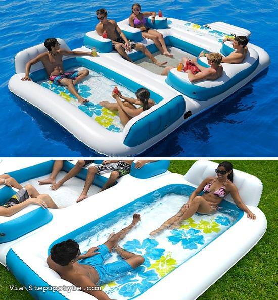 INFLATABLE 6 PERSON POOL RAFT
